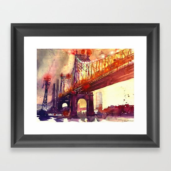Queensboro Bridge Framed Art Print