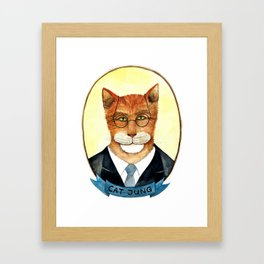 Cat Jung Framed Art Print