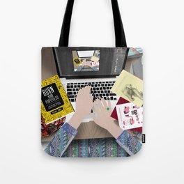 my messy desk Tote Bag