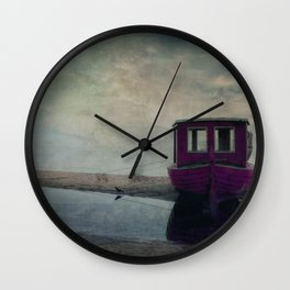 my little pink boat Wall Clock