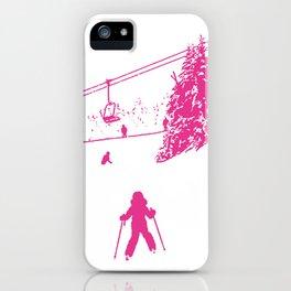 Little Skier - Pink iPhone Case