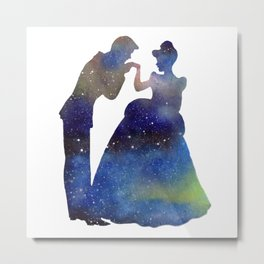 Prince and Princess Stars Metal Print