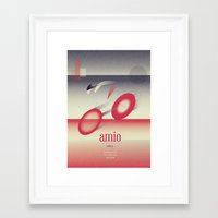 cycling Framed Art Prints featuring Cycling by marcus marritt