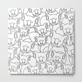 Minimalist Koala Metal Print