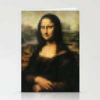 mona lisa Stationery Cards featuring Mona Lisa by Bilal
