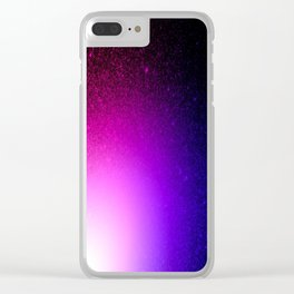 Fuchsia Purple Blue Ombre Clear iPhone Case