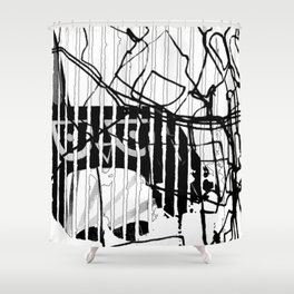 ODD MIKEY Stuff - Abstract Story - Part II Shower Curtain