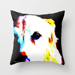 CHARLIE THE LAB Throw Pillow