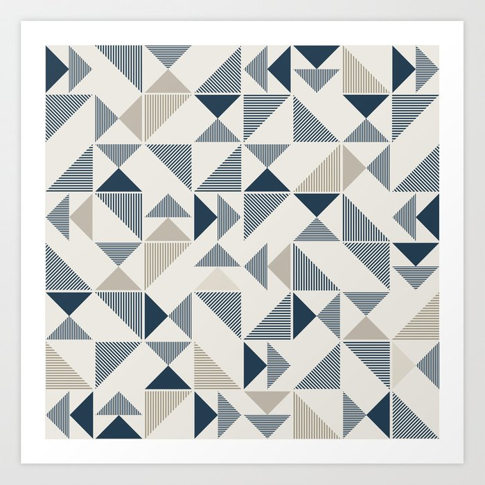 Abstract Geometric Triangle Pattern Art Print