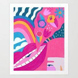 Sweet talk Art Print