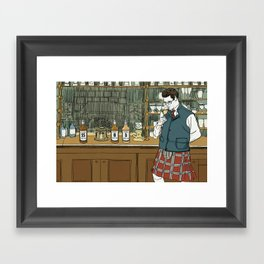 """Whiskey Can't Hide Its Age Either"" by Daniel Zalkus for Nautilus Framed Art Print"
