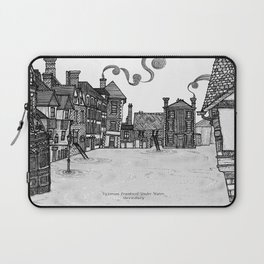 Victorian Frankwell Under Water, black and white Laptop Sleeve