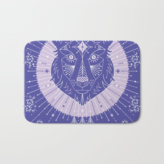 Wild & Free Wolf – Periwinkle Bath Mat