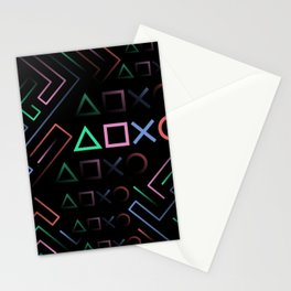 Playstation Buttons Maze Lines Stationery Cards