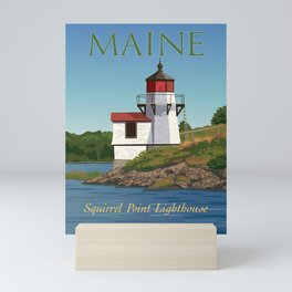 Squirrel Point Lighthouse Maine Mini Art Print