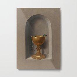 Chalice of Saint John the Evangelist [reverse by Hans Memling Metal Print