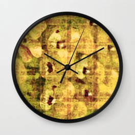 golden flower kaleidoskope Wall Clock