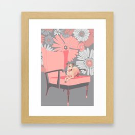 Dog in a chair #3 Italian Greyhound Framed Art Print