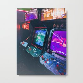 Arcade Machines Metal Print