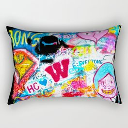 Graffiti Hypebeast Bape Illustration Rectangular Pillow
