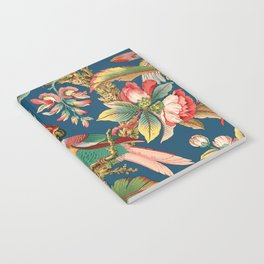 Antique French Chinoiserie in Blue Notebook