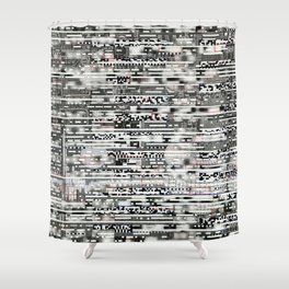 Removing Filters (P/D3 Glitch Collage Studies) Shower Curtain