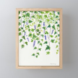 Ivy and Lavender Watercolor Framed Mini Art Print