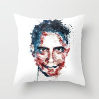 obama Throw Pillows featuring Obama by I AM DIMITRI