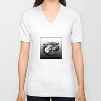 bass V-neck T-shirts featuring Music - Bass by yahtz designs