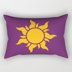 Tangled Rapunzel Sun Logo - Corona Symbol Rectangular Pillow