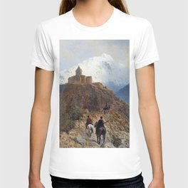 Caucasian View 1889 By Lev Lagorio | Reproduction | Russian Romanticism Painter T-shirt