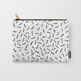 Boom Things: Wiggles, Black on White Carry-All Pouch