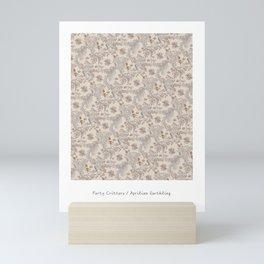 Party Critters in Cream ( leafy sea dragon in cream and coral ) Mini Art Print