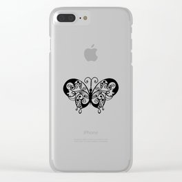 Artistic Butterfly Clear iPhone Case
