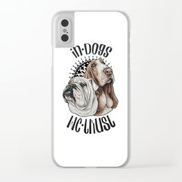 In dogs we trust Clear iPhone Case