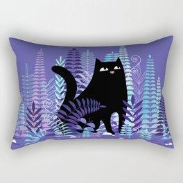 The Ferns (Black Cat Version) Rectangular Pillow