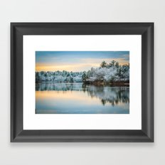 Snowfall in April III Framed Art Print