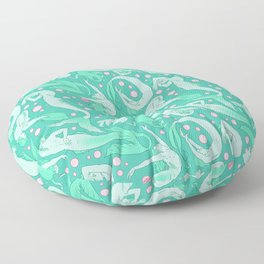 Tails of the Deep Floor Pillow