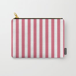 Large Nantucket Red and White Cabana Tent Stripes Carry-All Pouch