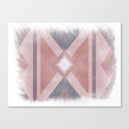 Red - Purple -  Pink Geometric shabby artwork Canvas Print