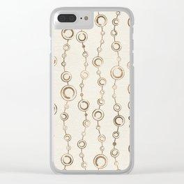 Enso Circle - Zen pattern pastel gold Clear iPhone Case