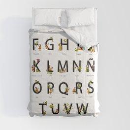 Spanish Alphabet Comforters