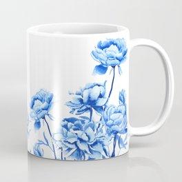 blue peonies 2 Coffee Mug