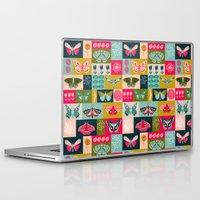 vegetarian Laptop & iPad Skins featuring Lepidoptery tiles by Andrea Lauren  by Andrea Lauren Design