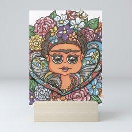 Frida and Monkey Mini Art Print