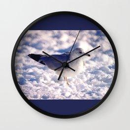 Brooklyn snowy day gull Wall Clock