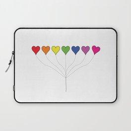 7 Rainbow Colored Heart Balloons  Laptop Sleeve