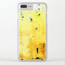 Yellow Orange Abstract Art - The Dreamer - By Sharon Cummings Clear iPhone Case