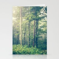 woods Stationery Cards featuring Inner Peace by Olivia Joy StClaire