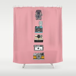 Camera Collection (Pink) Shower Curtain